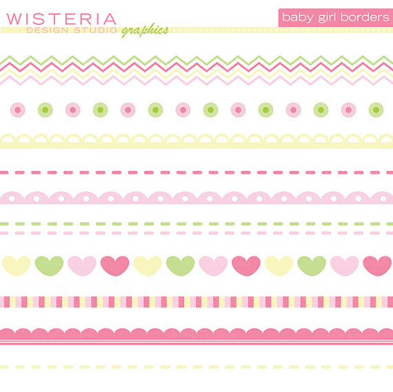 Baby girl clipart border graphic royalty free download Baby girl clipart border - ClipartFest graphic royalty free download
