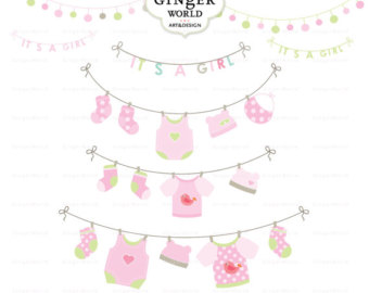 Baby girl clipart border image royalty free stock Baby girl shower border clipart - ClipartFest image royalty free stock
