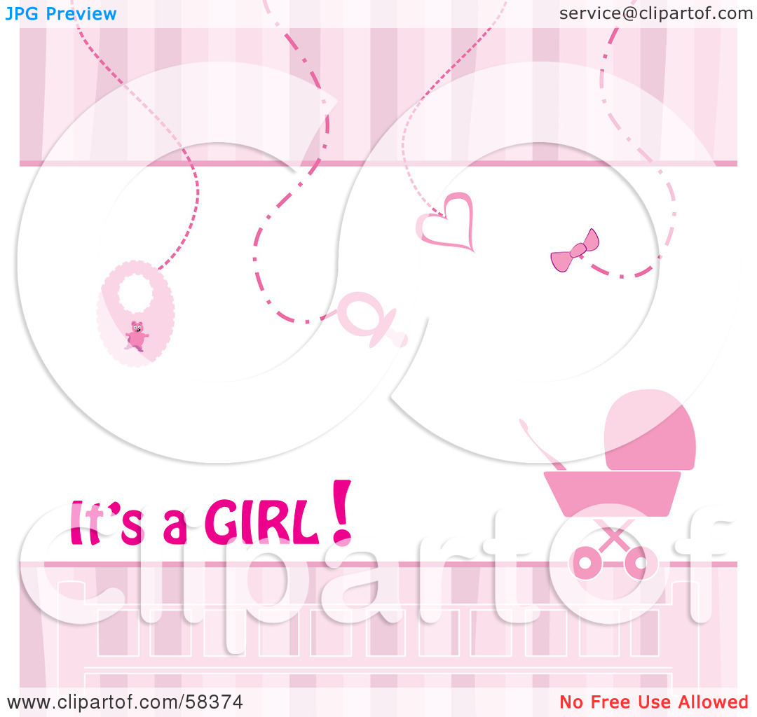 Baby girl clipart border svg black and white stock Baby girl border clipart - ClipartFest svg black and white stock