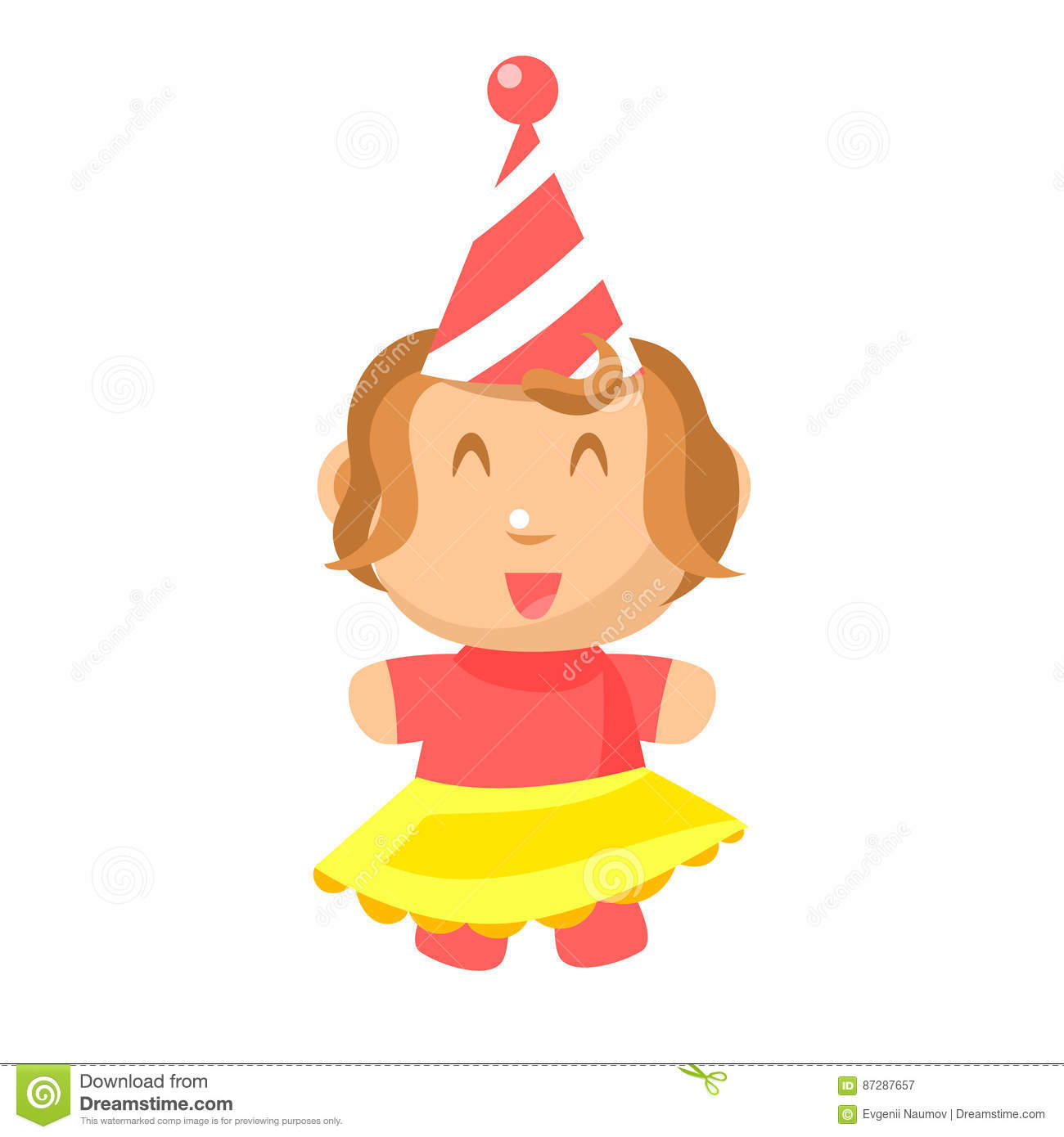 Baby girl clipart cimple. Small happy in party