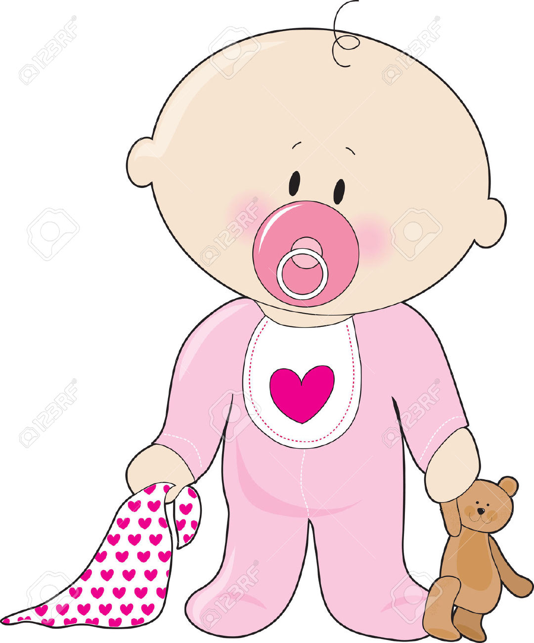 Clip art. Baby girl clipart images