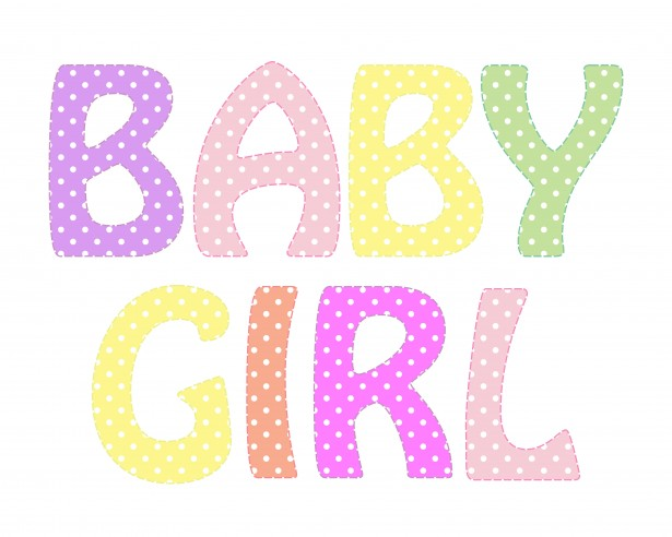 Kid text free stock. Baby girl clipart images