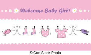 Welcome kid cute pink. Baby girl clipart images
