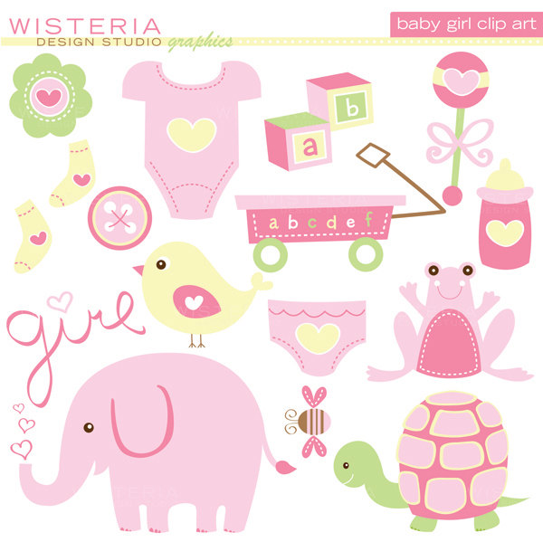 Cute kid elements instant. Baby girl clipart images