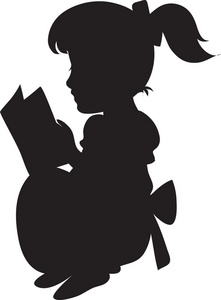 Baby girl clipart silhouette black and white stock Free Silhouette Girl Cliparts, Download Free Clip Art, Free Clip Art ... black and white stock