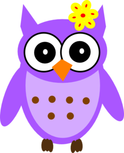 Baby girl clipart simple. Owl purple clipartfox clip