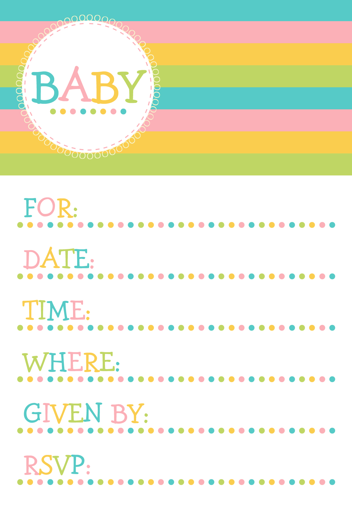 Baby girl clipart simple. Shower invite clipartfox invitations