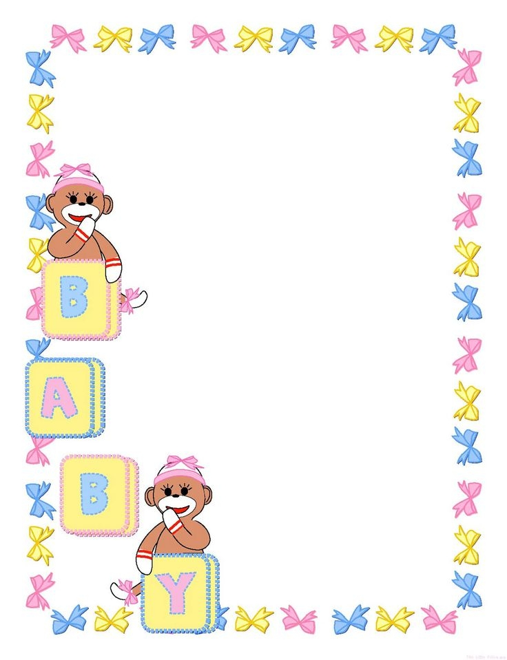 Baby girl clipart simple. Clip art borders clipartfest