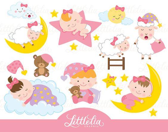 Baby girl clipart sleeping royalty free library Sleeping baby girl - sleep clipart - baby clipart - 16039 | Sleep ... royalty free library