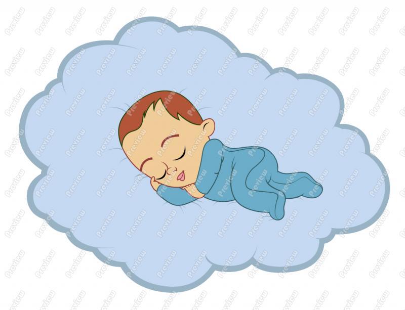 Baby girl clipart sleeping freeuse Baby girl clipart sleeping - ClipartFest freeuse