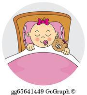 Baby girl clipart sleeping jpg download Vector Art - Baby girl sleeping on a cloud. Clipart Drawing ... jpg download