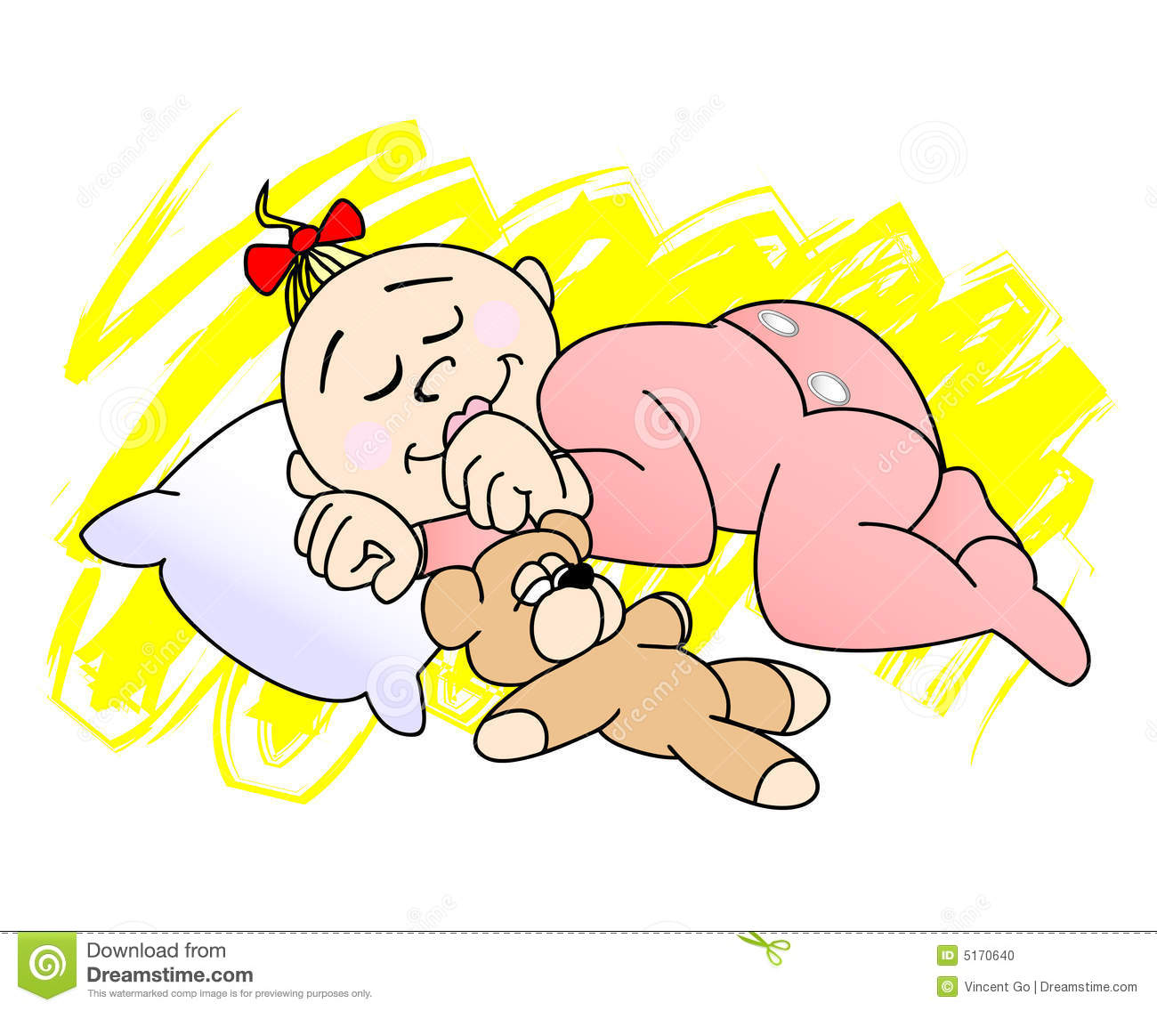Baby girl clipart sleeping clip art black and white Sleeping Baby Clipart - Clipart Kid clip art black and white
