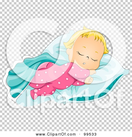 Baby girl clipart sleeping clip library Royalty-Free (RF) Clipart Illustration of a Cute Baby Girl ... clip library