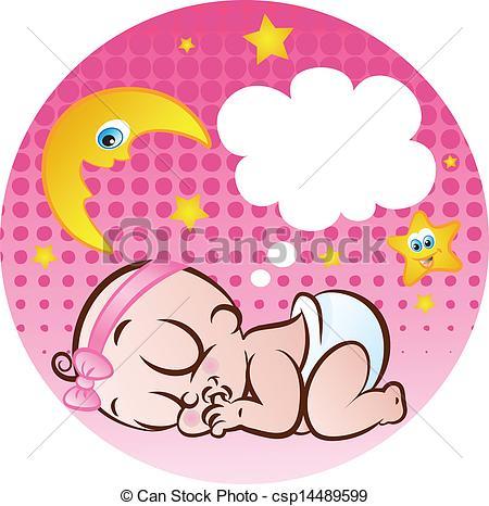 Baby girl clipart sleeping royalty free Baby girl sleeping clipart - ClipartFest royalty free