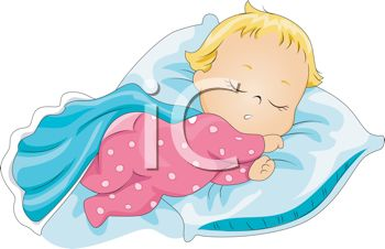 Baby girl clipart sleeping banner stock Image of a Baby Sleeping Peacefully In a Vector Clip Art ... banner stock