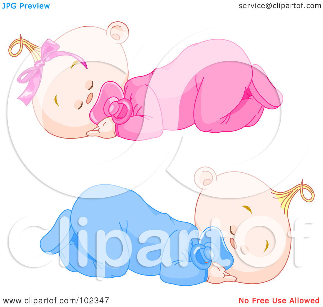 Baby girl clipart sleeping image library stock Royalty-Free (RF) Clipart Illustration of Boy And Girl Baby Twins ... image library stock