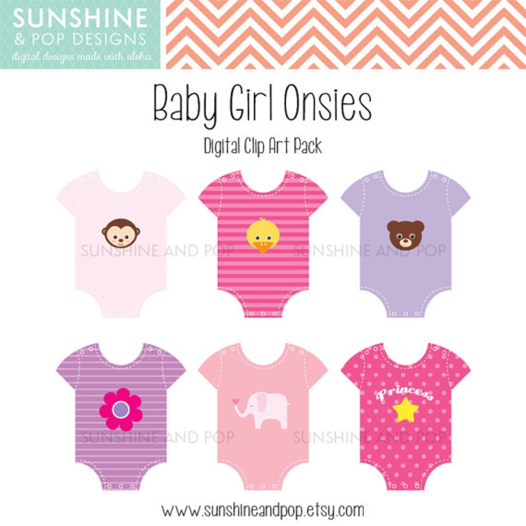 Baby girl clothes clipart vector transparent stock 14 best photos of ba girl onesie clip art polka dot ba clip ... vector transparent stock