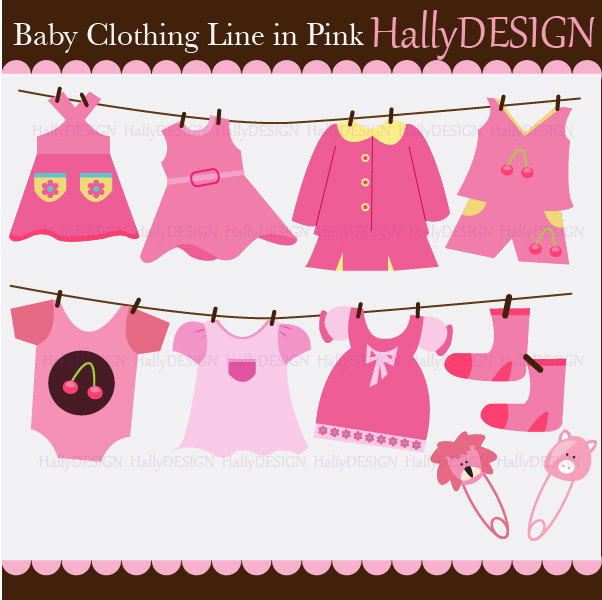 Baby girl clothes clipart svg library stock Pink Baby Clothes Clipart - Clipart Kid svg library stock