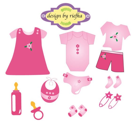 Baby girl clothes clipart clip free stock Pink Baby Clothes Clipart - Clipart Kid clip free stock