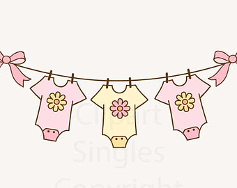 Baby girl clothes clipart banner freeuse download Baby girl clothes line clipart - ClipartFest banner freeuse download