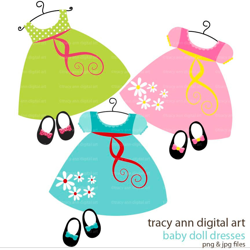 Baby girl clothes clipart jpg freeuse library Clipart of baby clothes - ClipartFest jpg freeuse library