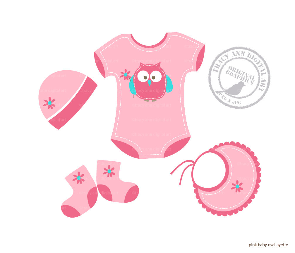 Baby girl clothes clipart picture royalty free Baby Girl Stuff Clipart - Clipart Kid picture royalty free