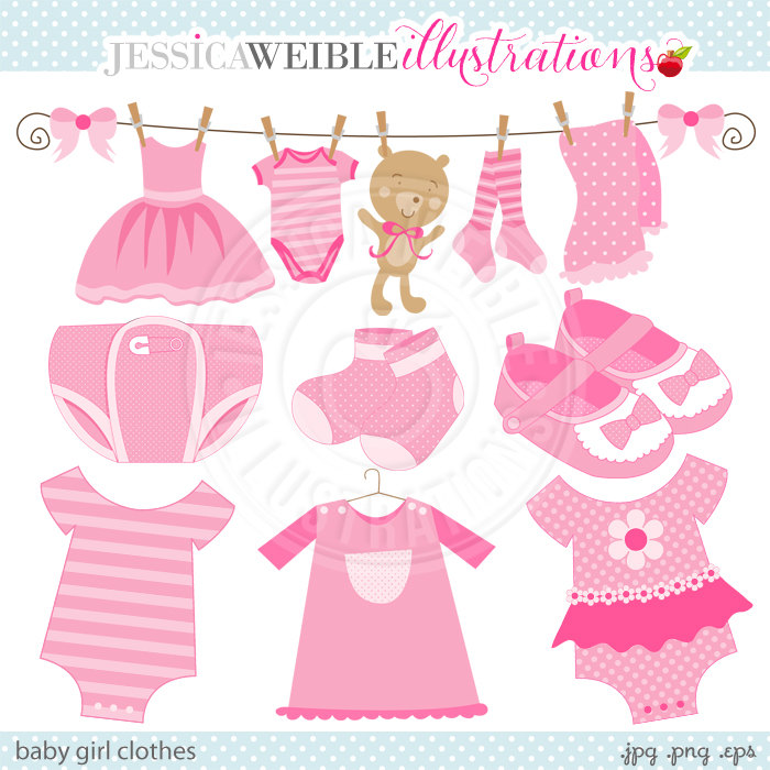 Baby girl clothes clipart transparent library Baby girl clothes clipart - ClipartFest transparent library