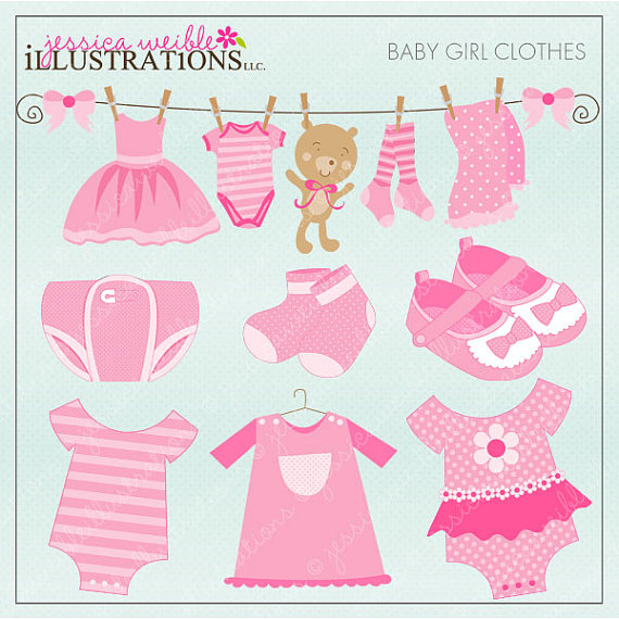 Baby girl clothes clipart clip library download Pink Baby Clothes Clipart - Clipart Kid clip library download