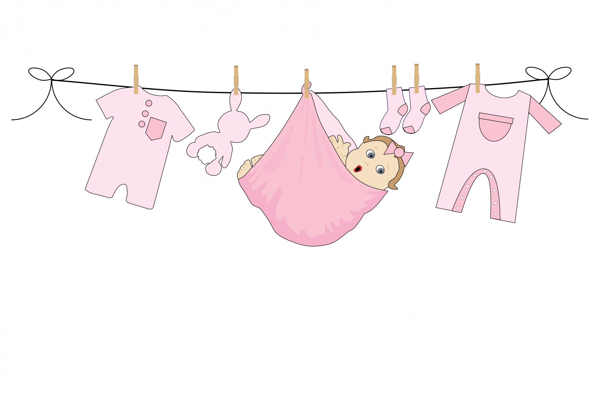 Baby girl clothes clipart picture stock Baby girl clothes line clipart - ClipartFest picture stock