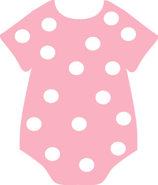 Baby girl clothes clipart vector free library Pink Baby Clothes Clipart - Clipart Kid vector free library