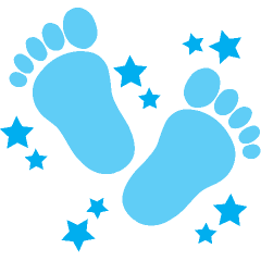 Clipart baby blue vector royalty free download Baby Girl Footprint Clipart | Free download best Baby Girl Footprint ... vector royalty free download