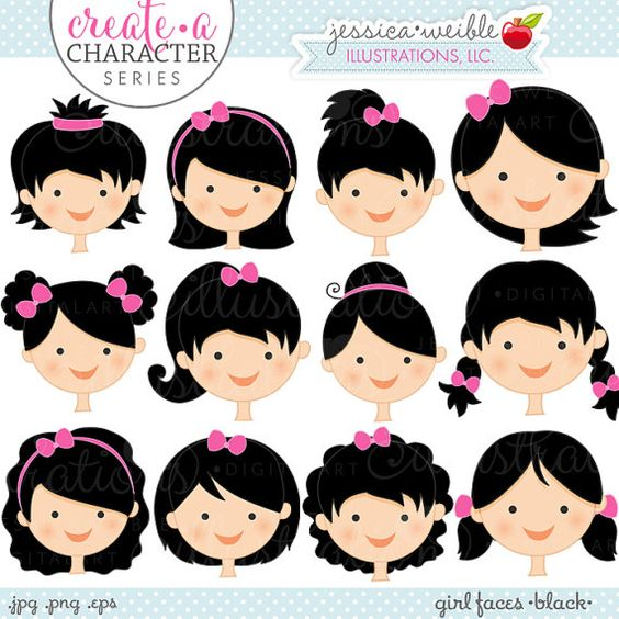 Baby girl clipart black hair - ClipartFox graphic library