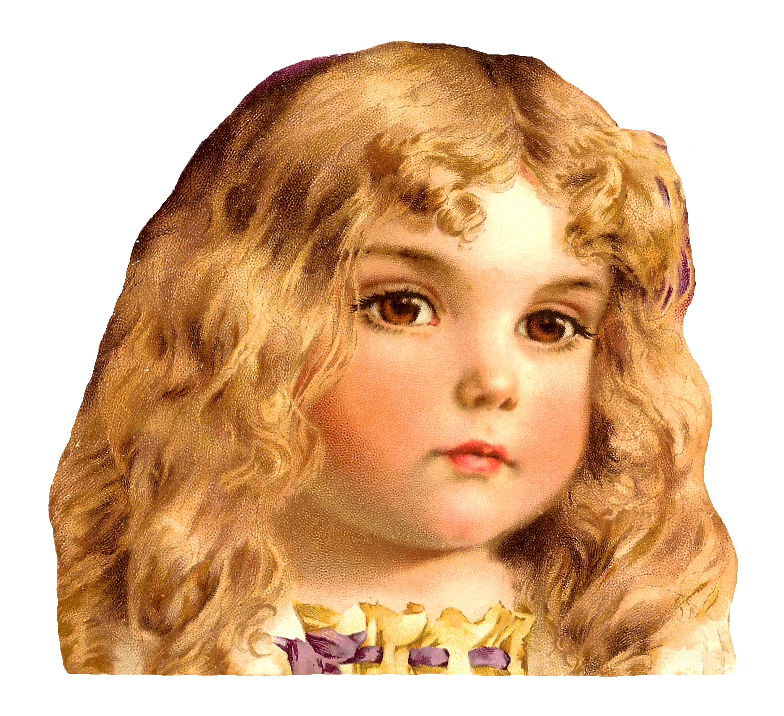 Baby girl hair clipart free stock Cute brown hair baby girl clipart - ClipartFox free stock