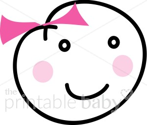 Baby girl head clipart png library Baby Girl Face Clipart | Baby Girl Clipart png library