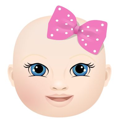 Baby girl head clipart.  best images about