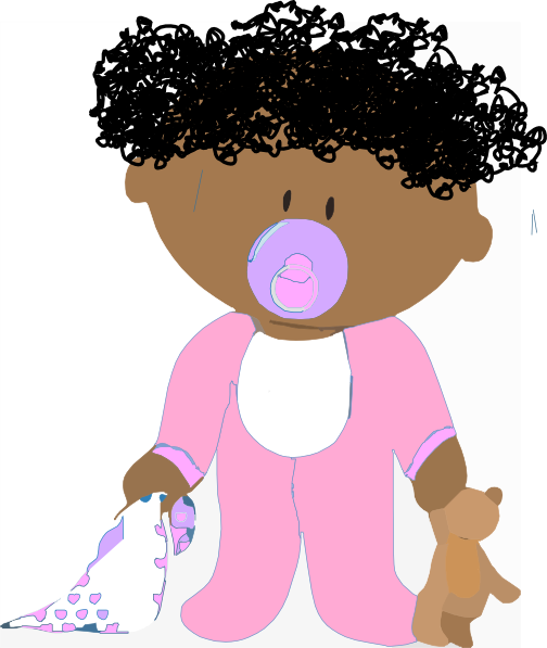 Baby girl head clipart clipart download Baby Girl Curly Clip Art at Clker.com - vector clip art online ... clipart download