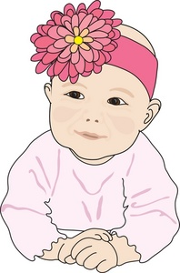 Baby girl head clipart graphic freeuse library Clip Art Baby Girl Headbands Clipart graphic freeuse library