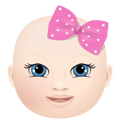 best images about. Baby girl head clipart