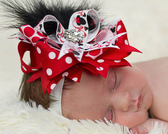Clipartfest red minnie mouse. Baby girl head with big bow clipart