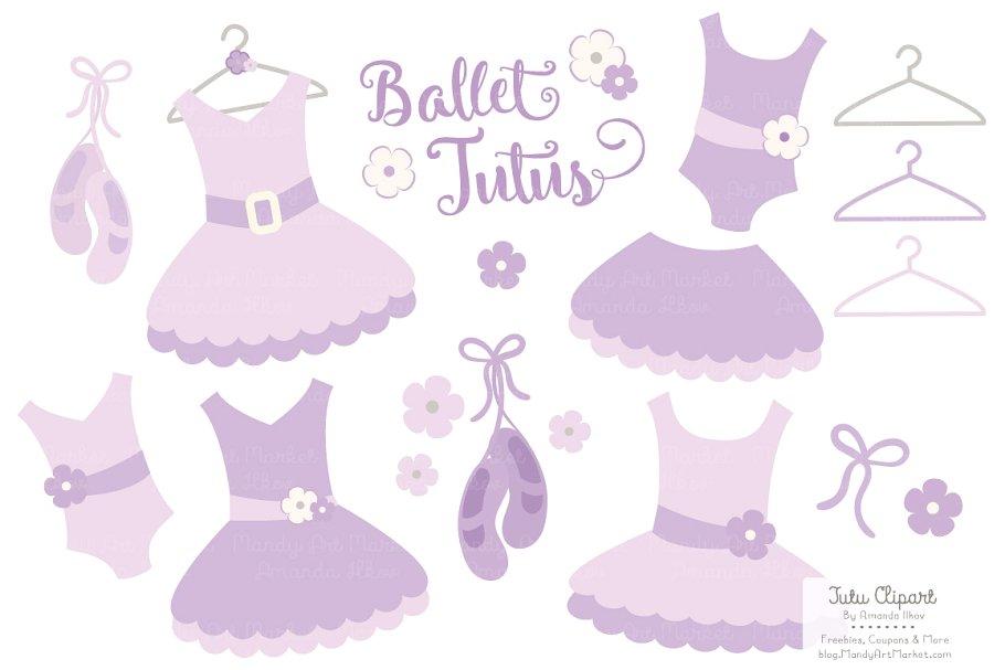 Baby girl in lavender tutu clipart banner freeuse download Lavender Ballet Tutus Clipart banner freeuse download