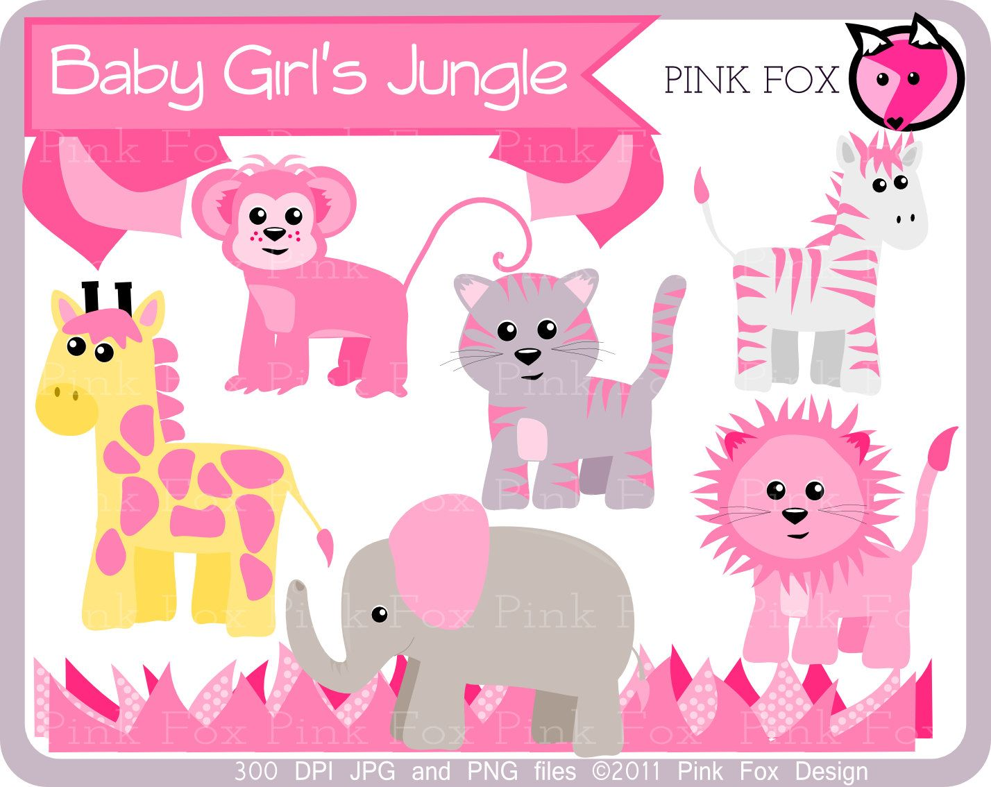 Baby girl jungle animals clipart picture transparent library clipart | Clip art | Clip art, Jungle animals, Animals picture transparent library