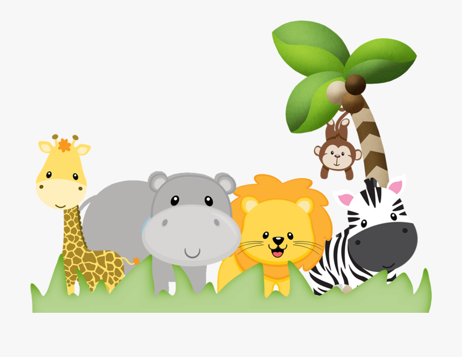 Baby girl jungle animals clipart vector black and white library Zoo Vector Safari Theme - Baby Girl Monkey Clip Art #2538286 - Free ... vector black and white library