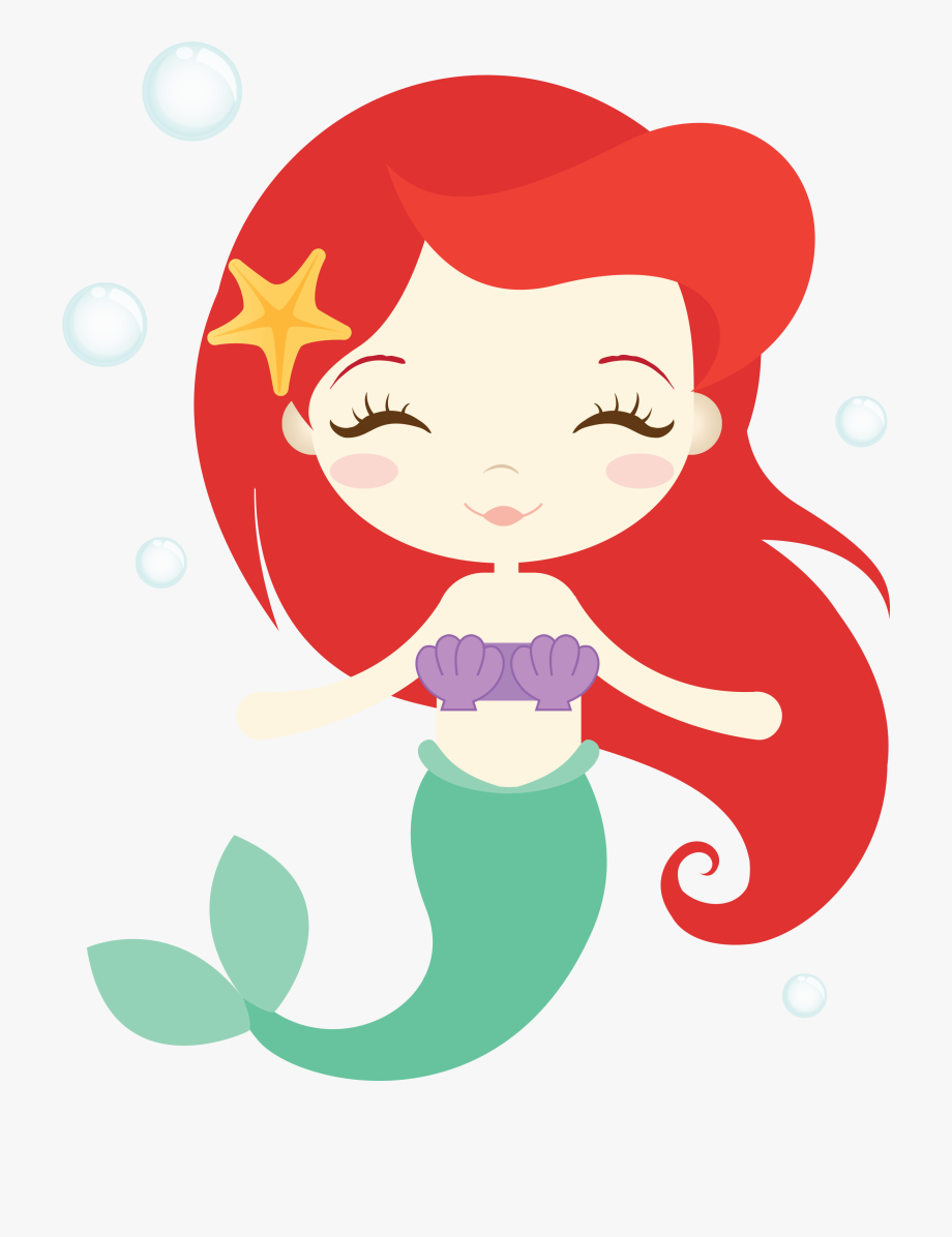 Baby girl mermaid clipart vector freeuse library Image Result For Ariel Clipart Birthday Parties - Ariel Little ... vector freeuse library
