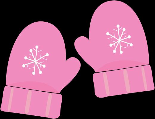 Snowman mittens clipart