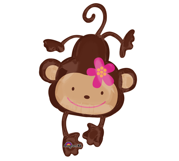 Monkey love clipart