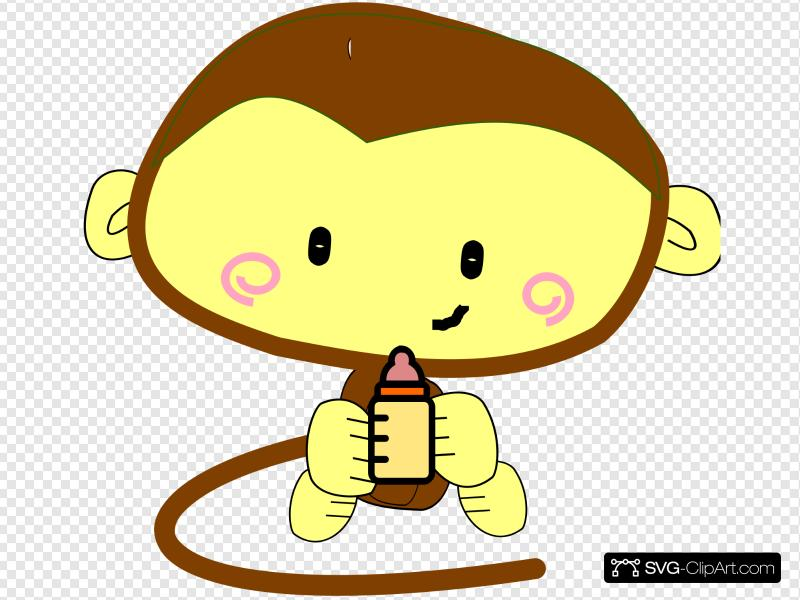 Baby girl monkey clipart png free Baby Girl Monkey Clip art, Icon and SVG - SVG Clipart png free