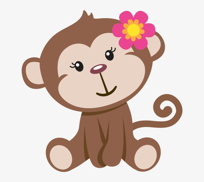 Monkey girl clipart png download Mq Sticker - Baby Girl Monkey Clip Art - Free Transparent PNG ... png download