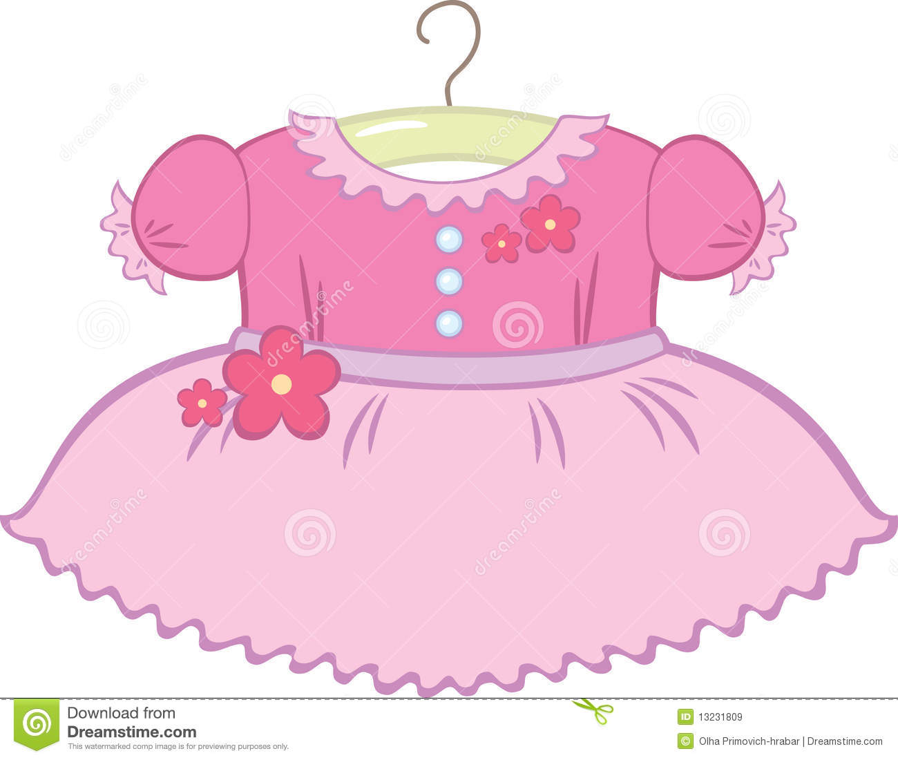 Baby girl dress clipart 3 » Clipart Station clip art library