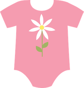 Transparent little girl dress clipart