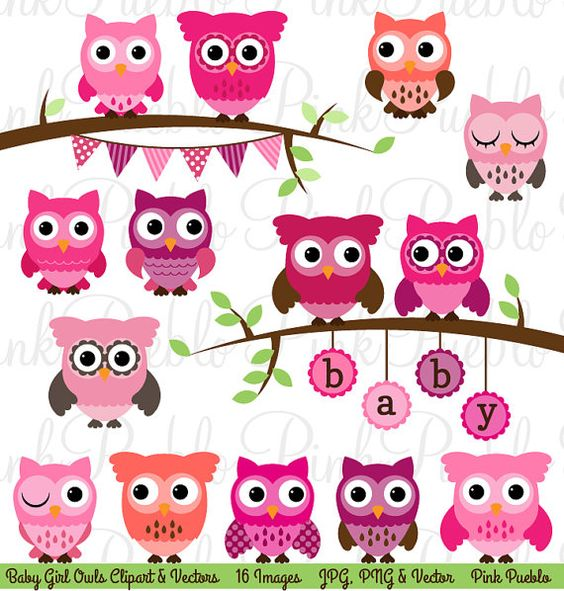 Baby girl owl clipart clipart freeuse download Baby Shower Girl Owl Clipart Clip Art, Girl Baby Shower Owl Bird ... clipart freeuse download